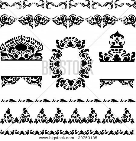 Cambodian floral pattern