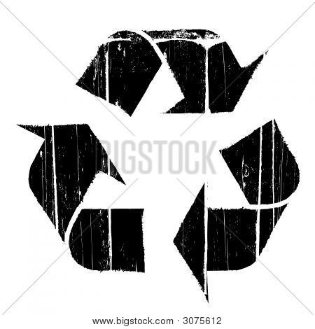 Aged Old Recycle Symbol Texture