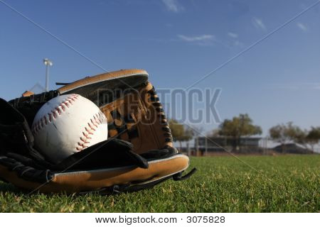 Softball With Gloves