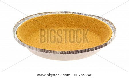 Graham Cracker Pie Crust Side View