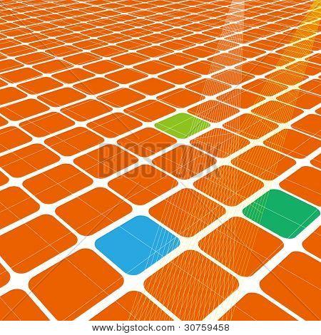 Abstract 3d unendliche Raster für Business-Wissenschaft oder Technologie-Hintergrund