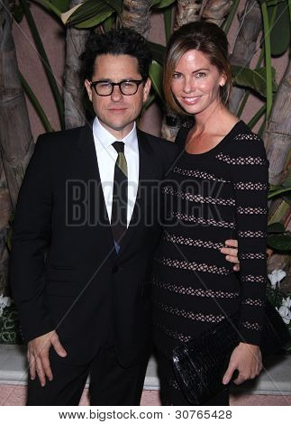 LOS ANGELES - DEC 01:  J.J. Abrams & Katie arrives to the Beat The Odds Award 2011  on December 01, 2011 in.Beverly Hills, CA.