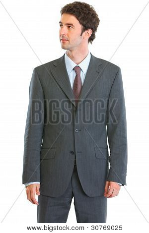 Modern Businessman Looking In Corner