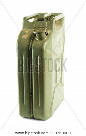 Gasoline Jerrican Isolated On White Background