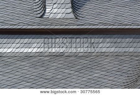 Schist Tiled Roof Detail