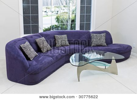 Living Room With Family Sofa