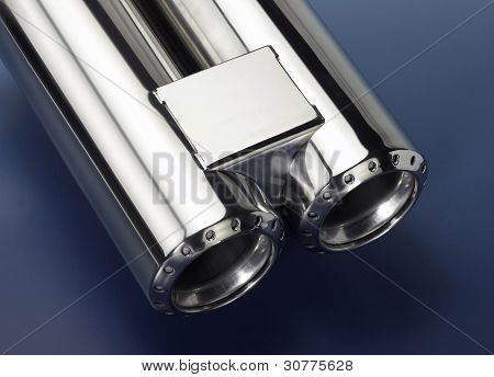 Chrome Double Exhaust Pipe