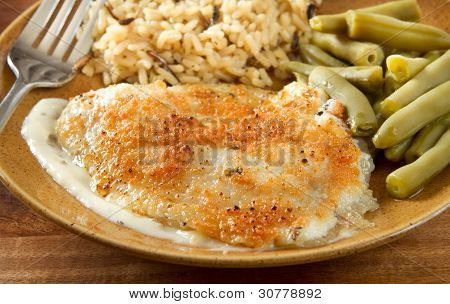 Tilapia Parmesan Meal
