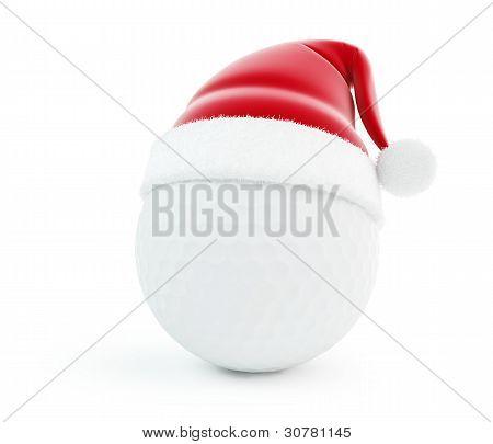 Santa Hat Golf Ball