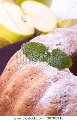 Tasty Apple Pie On Plate