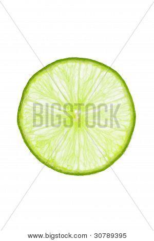 Fresh slice of lime