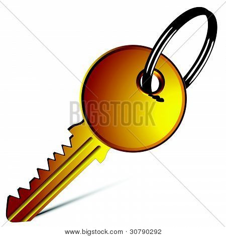 Golden Key Against White