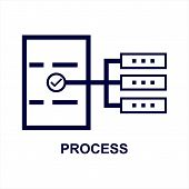 Process Icon Isolated On White Background From Seo Collection. Process Icon Trendy And Modern Proces poster