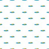 Sinking Car Pattern Seamless Vector Repeat For Any Web Design poster