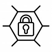 Web Locked Icon. Outline Web Locked Vector Icon For Web Design Isolated On White Background poster