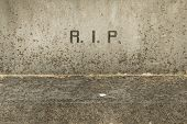 stock photo of life after death  - The letters RIP  - JPG