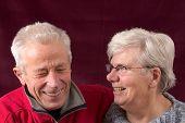 Laughing Senior Couple