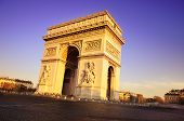 foto of charles de gaulle  - Arch of Triumph on the Charles De Gaulle square - JPG