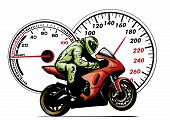 Motorbike Rider, Abstract Vector Silhouette. Road Motorcycle Racing poster
