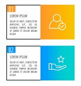 Modern Vector Illustration 3D. An Infographic Template With Two Steps And An Image Of Five Rectangle poster