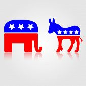 Democratic and Republican Political Symbols