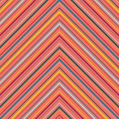 Chevron Seamless Pattern. Colorful Vector Texture With Thin Diagonal Lines, Stripes, Zigzag. Multico poster