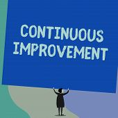 Handwriting Text Writing Continuous Improvement. Concept Meaning Ongoing Effort To Improve Products  poster