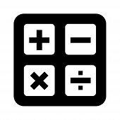 Calculator Icon , Calculator Icon Isolated On White Background. Calculator Icon Blue Simple Sign. Ca poster