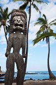 stock photo of totem pole  - Hawaiian Tiki - JPG