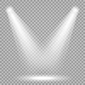 Vector Spotlight. Bright Light Beam. Transparent Realistic Effect. Stage Lighting. poster