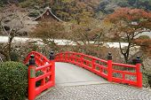 stock photo of minos  - autumn scenery at Ryuanji temple in Mino park - JPG