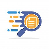Vector Illustration Icons With Responsive Analysis Concepts For Document Review, Document Correction poster
