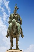 Equestrian Monument Of Vittorio Emanuele Ii (1820-1878), First King Of Italy. Vittoriano Or Altare D poster