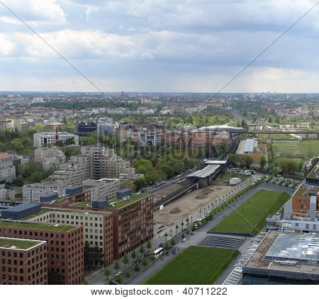 Aerial View Of Berlin At Summer Time