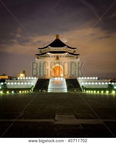 Cheng Kai Shek Memorial Hall By Night