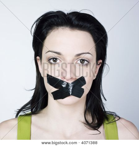 Young Woman Reduce To Silence