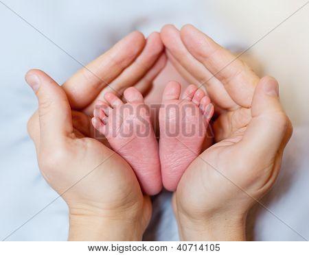 Pernas do bebê