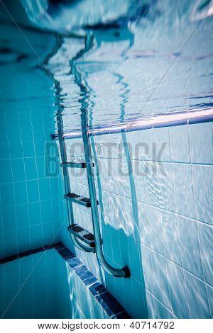 Ladder pool under water