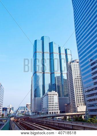 Skyscraper With Railway