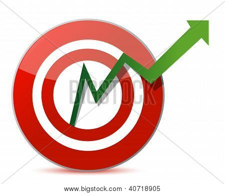 Business Target Marketing Concept Illustration