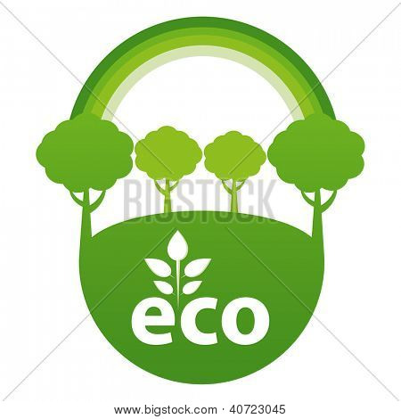 Green ECO reforestation concept.