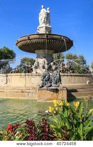Fountain At La Rotonde, Aix-en-provence