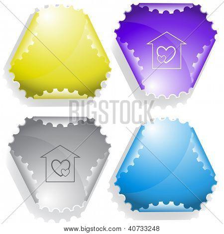 Orphanage. Raster sticker. Vector version is in my portfolio.