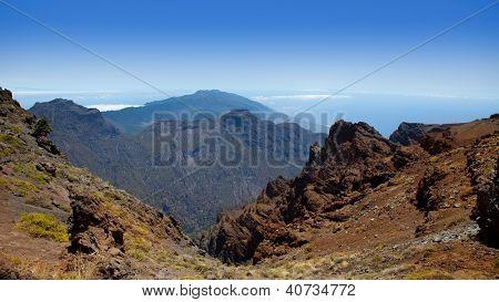 Caldera de Taburiente in Roque Muchachos at La Palma Canary Island