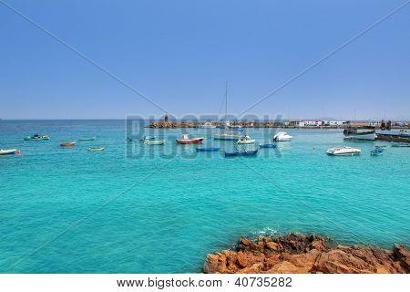 Lanzarote Playa Blanca beach in Atlantic Canary Islands
