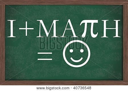 I Love Math Equation Chalkboard