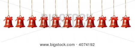 Tinkle Bells Hanging In A Row