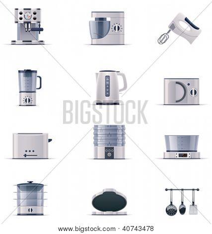 Vector domestic appliances set. Part 2