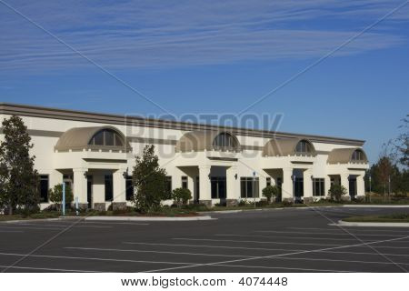 Brown Retail Strip Mall