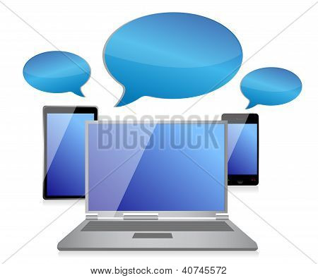 Social Networking Chat Symbol Concept